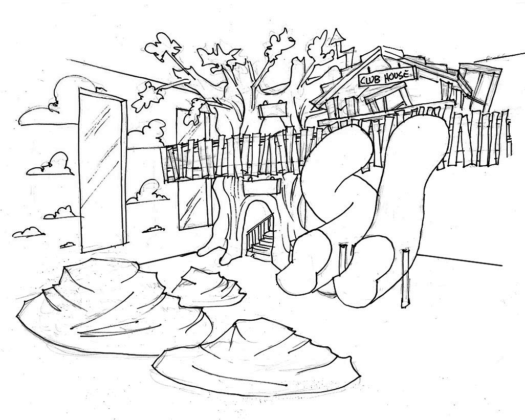 Free Coloring Pages Of Playground Park Playground Coloring Pages